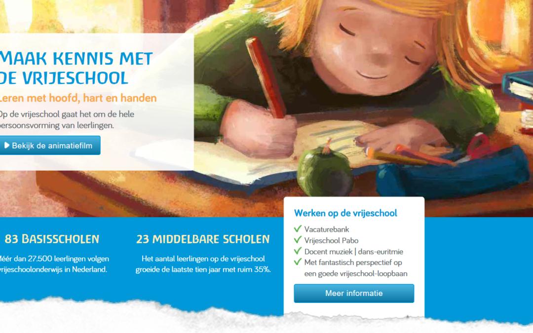 Kiezen voor de vrije school: nieuwe website
